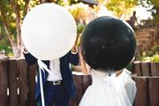 Большие воздушные шарики 36 дюймов черные и белые